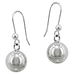 Sterling Silver 10mm Ball Dangle Earrings