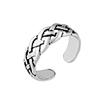 Sterling Silver Braid Toe Ring