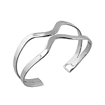 Sterling Silver Twisted Flat Waves Cuff