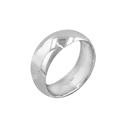 Sterling Silver 8mm Wedding Band