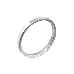 Sterling Silver 2mm Cigar Band