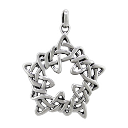 Sterling Silver Celtic Style Star Pendant