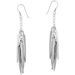 Sterling Silver Cascading Blades Dangle Earrings