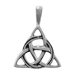 Sterling Silver Triangular Celtic Knot Pendant