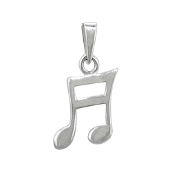 Sterling Silver Petite Music Pendant