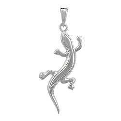 Sterling Silver Lizard Pendant