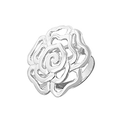 Sterling Silver Filigree Rose Flower Ring