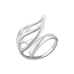 Sterling Silver Filigree Open Size Leaf Ring