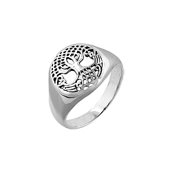 Sterling Silver Celtic Weave Tree of Life Ring