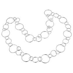Sterling Silver Cascading Rings Necklace