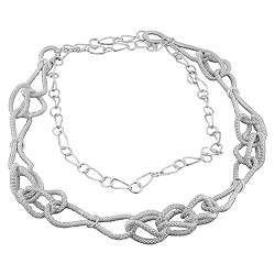 Sterling Silver Rope Knots Necklace