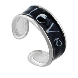 "Sterling Silver  ""Love"" Toe Ring"