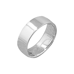 Sterling Silver 6.5mm Cigar Band