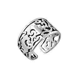 Leaves and Branches Free Size Plain Sterling Silver Ring