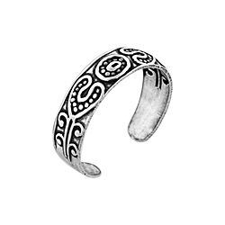 Sterling Silver Ethnic Style Toe Ring