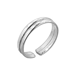 Sterling Silver Split Toe Ring