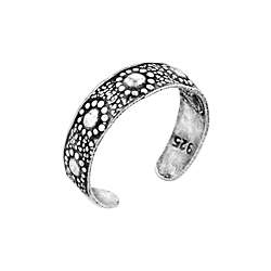 Sterling Silver Suns Toe Ring