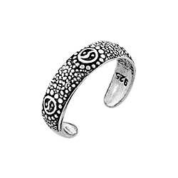 Sterling Silver Yin and Yang Toe Ring