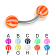 Beach ball curved barbell, 14 ga