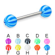 Beach ball straight barbell, 14 ga