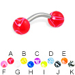 Marble ball curved barbell, 14 ga