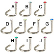 Jeweled nose screw, 18 ga