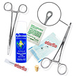 7-piece belly button piercing starter kit