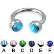 Circular barbell with cat eye balls, 12 ga