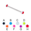 Flower half ball long barbell (industrial barbell), 12 ga