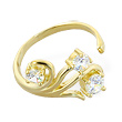 10K solid gold toe ring with multi-gems