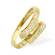 10K solid gold folded jeweled toe ring