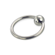 Captive bead ring, 14 ga