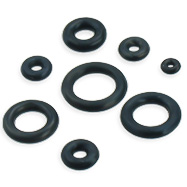 Black rubber O-ring, pack of 10