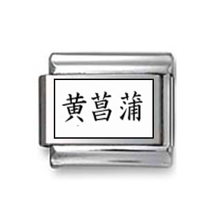 "Kanji Symbol ""Yellow iris"""