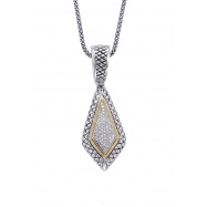 Alesandro Menegati 18K Accented Sterling Silver Necklace with Diamonds