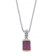 Alesandro Menegati 18K Accented Sterling Silver Necklace with Rubies