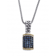 Alesandro Menegati 18K Accented Sterling Silver Necklace with Blue Sapphires