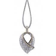 Alesandro Menegati 18K Accented Sterling Silver Necklace with Black Diamonds