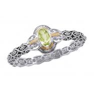 Alesandro Menegati 14K Accented Sterling Silver Multi Gemstones Bangle Bracelet