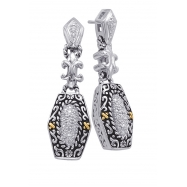 Alesandro Menegati 14K Accented Sterling Silver Earrings with Diamonds