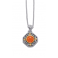 Alesandro Menegati 14K Accented Sterling Silver Necklace with Carnelian