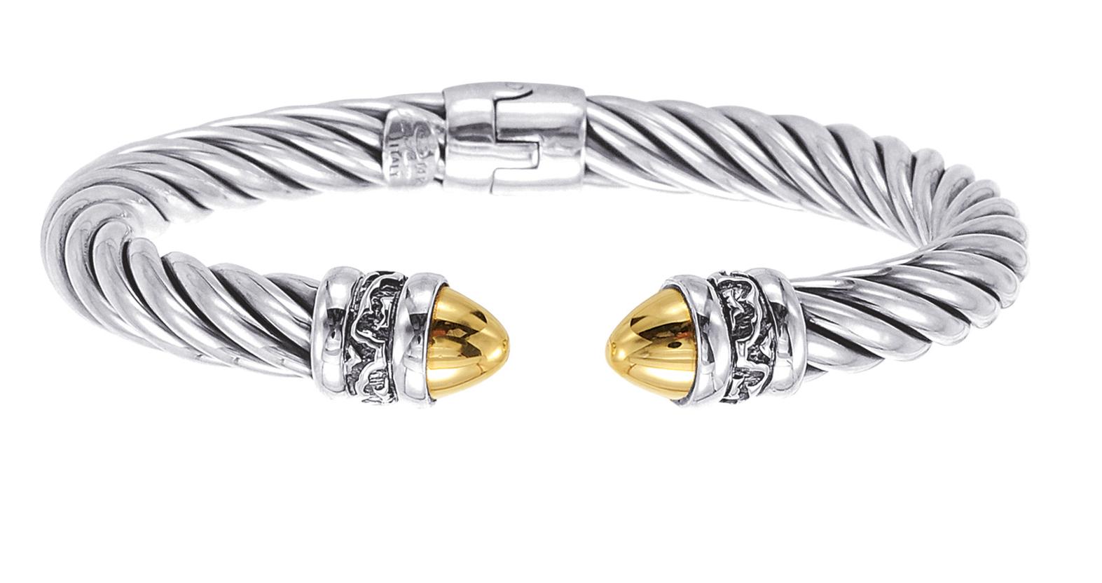 Alesandro Menegati 14K Gold & Sterling Silver Bangle. Price: $539.00