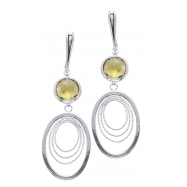 Alesandro Menegati 18K Accented Sterling Silver Lemon Quartz Earrings