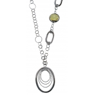 Alesandro Menegati 18K Accented Sterling Silver Lemon Quartz Necklace
