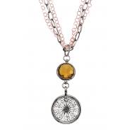 Alesandro Menegati 18K Accented Sterling Silver Honey Quartz Necklace