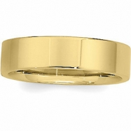 10K Yellow Gold Flat Comfort Fit Band