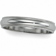 10K White Gold Milgrain Band