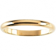 10K Yellow 08.00 MM Half Round Band