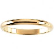 10K Yellow Gold Half Round Band