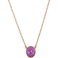 14K Rose Gold Genuine Amethyst Necklace